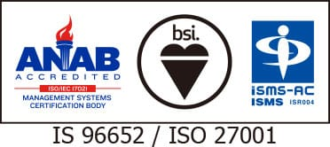 ANAB IS 96652 / ISO 27001